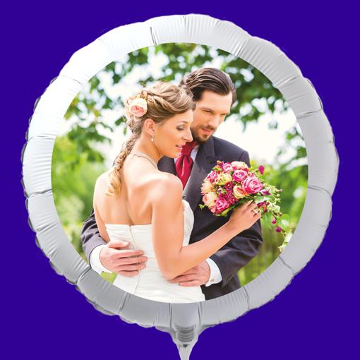 Fotoballon mit Hochzeitspaar zur Hochzeit